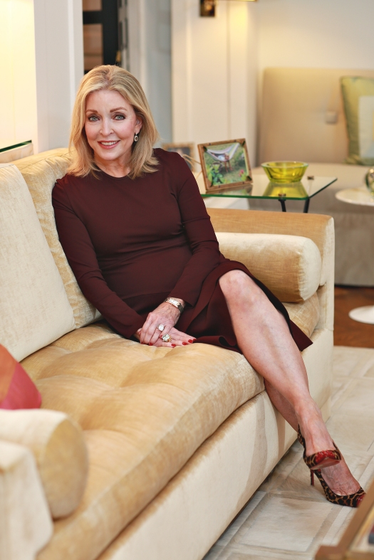 Furniture designer and TCU alum Jan Showers poses at her Dallas home.